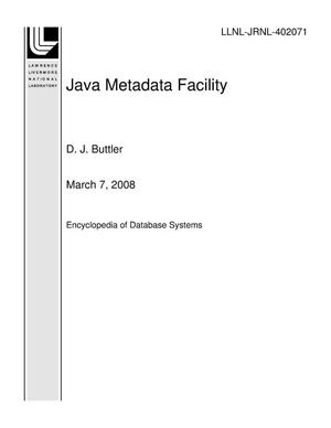 Primary view of object titled 'Java Metadata Facility'.