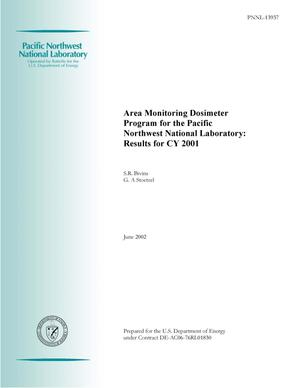 Primary view of object titled 'Area Monitoring Dosimeter Program for the Pacific Northwest National Laboratory: Results for CY 2001'.