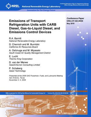 Emissions of Transport Refrigeration Units with CARB Diesel
