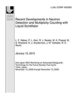 Primary view of object titled 'Recent Developments in Neutron Detection and Multiplicity Counting with Liquid Scintillator'.