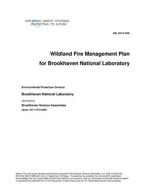 Primary view of object titled 'Wildland Fire Management Plan for Brookhaven National Laboratory'.