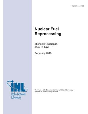 Primary view of object titled 'Nuclear Fuel Reprocessing'.