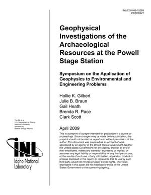 Primary view of object titled 'GEOPHYSICAL INVESTIGATIONS OF THE ARCHAEOLOGICAL RESOURCES AT THE POWELL STAGE STATION'.