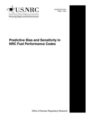 Primary view of object titled 'Predictive Bias and Sensitivity in NRC Fuel Performance Codes'.