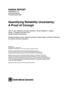 Primary view of object titled 'Quantifying reliability uncertainty : a proof of concept.'.