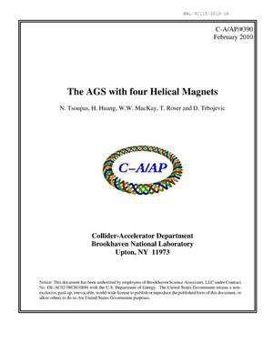 Primary view of object titled 'The AGS with four helical magnets'.
