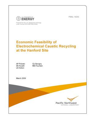 Primary view of object titled 'Economic Feasibility of Electrochemical Caustic Recycling at the Hanford Site'.