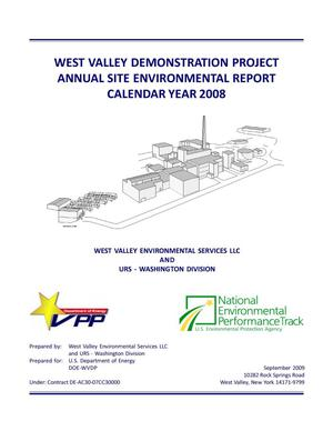 Primary view of object titled 'West Valley Demonstration Project Annual Site Environmental Report Calendar Year 2008'.