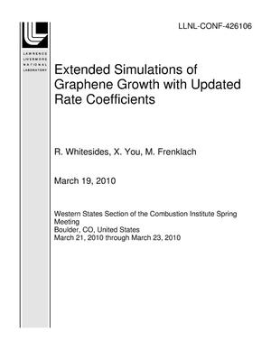 Primary view of object titled 'Extended Simulations of Graphene Growth with Updated Rate Coefficients'.