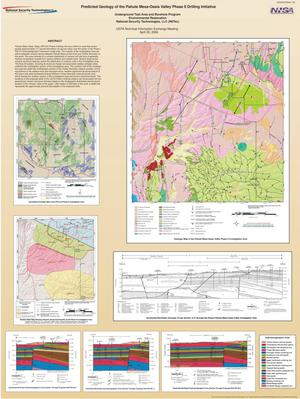 Primary view of object titled 'Predicted Geology of the Pahute Mesa-Oasis Valley Phase II Drilling Initiative'.