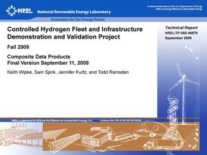 Primary view of object titled 'Controlled Hydrogen Fleet and Infrastructure Demonstration and Validation Project: Fall 2009; Composite Data Products, Final Version September 11, 2009'.