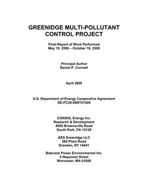 Primary view of object titled 'Greenidge Multi-Pollutant Control Project'.