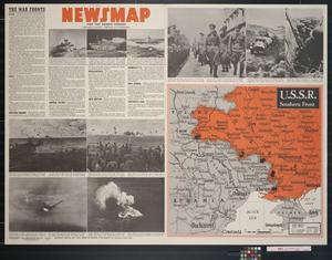 Primary view of object titled 'Newsmap. For the Armed Forces. 236th week of the war, 118th week of U.S. participation'.