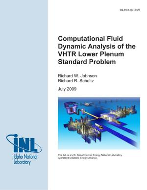 Primary view of object titled 'Computational Fluid Dynamic Analysis of the VHTR Lower Plenum Standard Problem'.