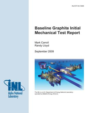 Primary view of object titled 'Baseline Graphite Initial Mechanical Test Report'.