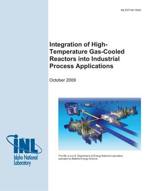 Primary view of object titled 'Integration of High-Temperature Gas-Cooled Reactors into Industrial Process Applications'.