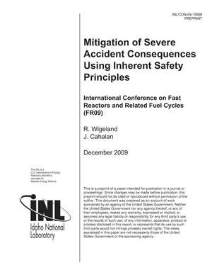 Primary view of object titled 'Mitigation of Severe Accident Consequences Using Inherent Safety Principles'.