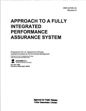 Primary view of object titled 'APPROACH TO A FULLY INTEGRATED PERFORMANCE ASSURANCE SYSTEM'.