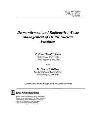 Primary view of object titled 'Dismantlement and Radioactive Waste Management of DPRK Nuclear Facilities'.