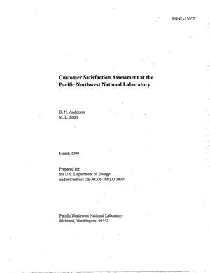 Primary view of object titled 'Customer Satisfaction Assessment at the Pacific Northwest National Laboratory'.
