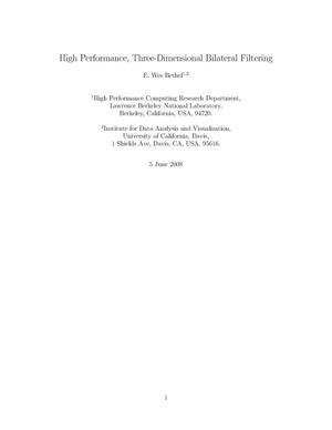 Primary view of object titled 'High Performance, Three-Dimensional Bilateral Filtering'.