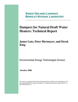 Primary view of object titled 'Dampers for Natural Draft Heaters: Technical Report'.