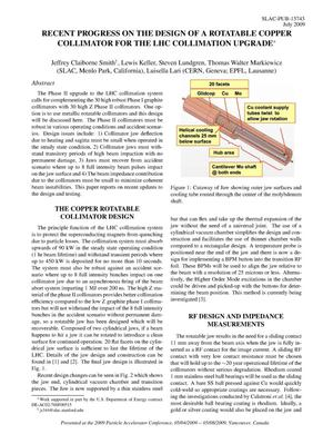 Primary view of object titled 'Recent Progress on the Design of a Rotatable Copper Collimator for the LHC Collimation Upgrade'.