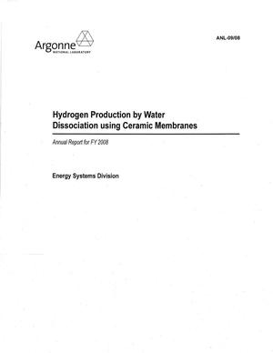 Primary view of object titled 'Hydrogen production by water dissociation using ceramic membranes - annual report for FY 2008.'.
