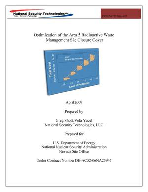 Primary view of object titled 'Optimization of the Area 5 Radioactive Waste Management Site Closure Cover'.