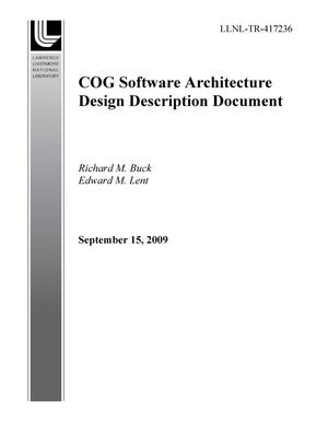 Primary view of object titled 'COG Software Architecture Design Description Document'.
