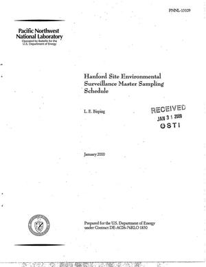 Primary view of object titled 'Hanford Site Environmental Surveillance Master Sampling Schedule'.
