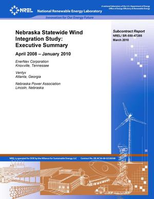 Primary view of object titled 'Nebraska Statewide Wind Integration Study: Executive Summary'.