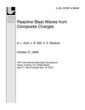 Primary view of object titled 'Reactive Blast Waves from Composite Charges'.