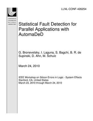Primary view of object titled 'Statistical Fault Detection for Parallel Applications with AutomaDeD'.