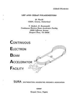 Primary view of object titled 'LEP and CEBAF Polarimeters'.