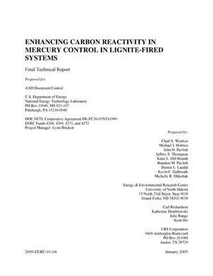 Primary view of object titled 'Enhancing Carbon Reactivity in Mercury Control in Lignite-Fired Systems'.