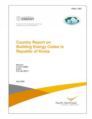 Primary view of object titled 'Country Report on Building Energy Codes in Korea'.