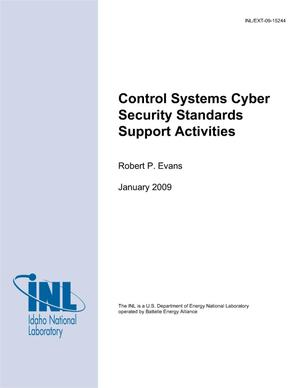 Primary view of object titled 'Control Systems Cyber Security Standards Support Activities'.