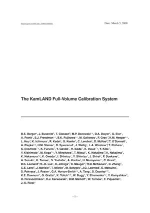 Primary view of object titled 'The KamLAND Full-Volume Calibration System'.