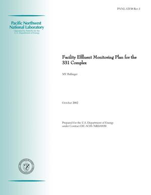 Primary view of object titled 'Facility Effluent Monitoring Plan for the 331 Complex'.