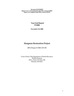 Primary view of object titled 'Hangman Restoration Project Year-End Report FY2008.'.