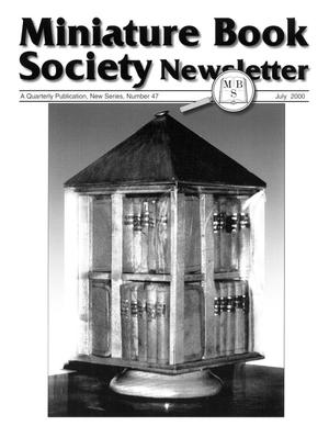 Primary view of object titled 'Miniature Book Society Newsletter 2000 July'.