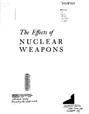Primary view of object titled 'The Effects of Nuclear Weapons'.