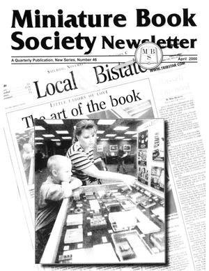 Primary view of object titled 'Miniature Book Society Newsletter 2000 April'.