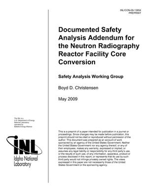 Primary view of object titled 'Documented Safety Analysis Addendum for the Neutron Radiography Reactor Facility Core Conversion'.
