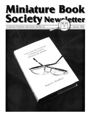 Primary view of object titled 'Miniature Book Society Newsletter 2000 January'.