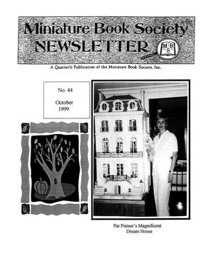 Primary view of object titled 'Miniature Book Society Newsletter 1999 October'.