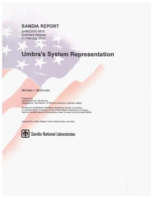 Primary view of object titled 'Umbra's system representation.'.