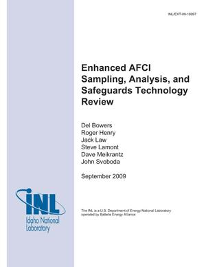 Primary view of object titled 'Enhanced AFCI Sampling, Analysis, and Safeguards Technology Review'.