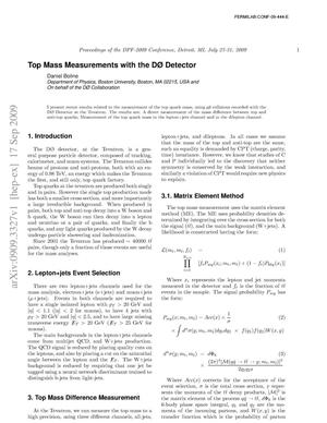 Primary view of object titled 'Top Mass Measurements with the D0 Detector'.